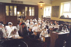 Great Cressingham Victorian School - The classroom
